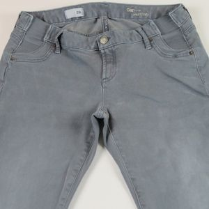 GAP 1969 MATERNITY Gray True Skinny Jeans